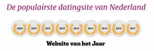 jarenlang uitgeroepen tot populairste datingsite van het jaar