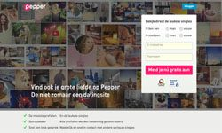 pepper datingsite homepage