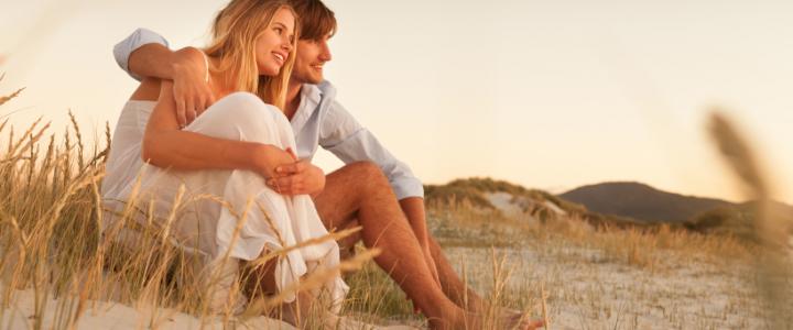 een date op het strand