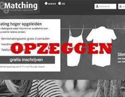e-matching profiel opzeggen en verwijderen
