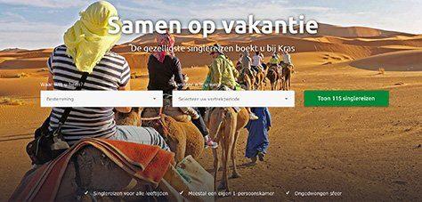 kras singlereizen homepage selecteer jouw vakantie