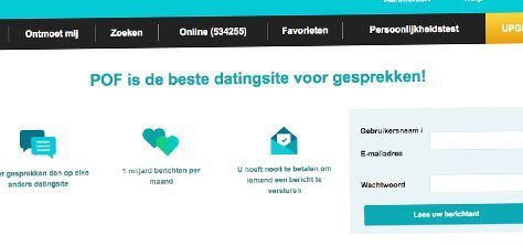 een grote internationale datingsite die ook in Nederland actief is nu Plenty of Fish